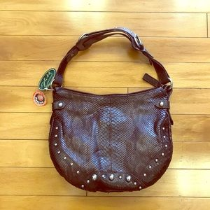 Real Python Leather Purse
